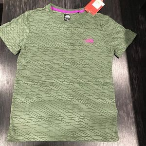 North Face Green Shirt with Purple Dome